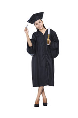 Beautiful female graduate