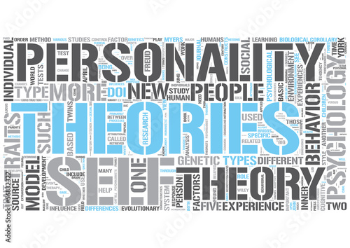 Personality psychology Word Cloud Concept