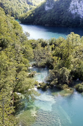 View on the lakes of Plitvice National Park