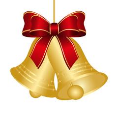 weihnachtsglocke,dekoschleife,schleifenband,goldene glocke