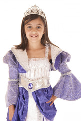 Cute girl in purple princess outfit Halloween