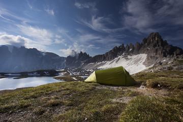 tenda in montagna