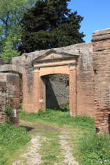 Old roman house in Ostia Antica, Rome