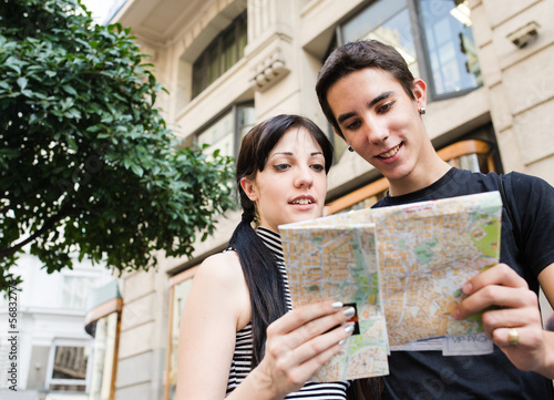 Couple and a map