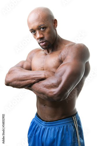 Muscular Man Arms Crossed