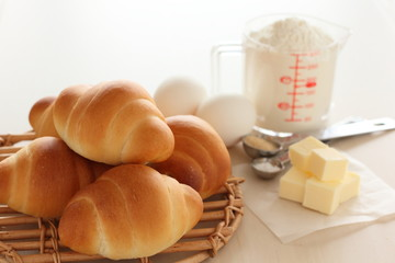 パンと材料