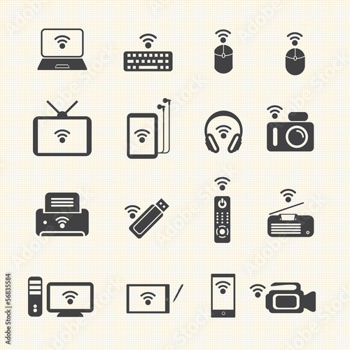 Wireless technology. Wireless equipment. Vector