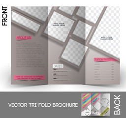 Dance Club Tri-Fold Mock up & Brochure Design