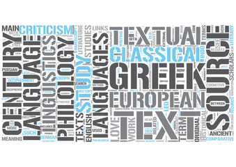 Philology Word Cloud Concept