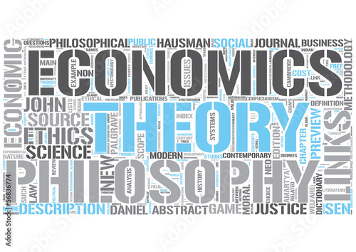 Philosophy and economics Word Cloud Concept
