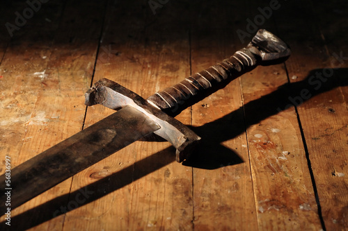 Leinwanddruck Bild Ancient Sword