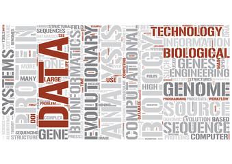 Bioinformatics Word Cloud Concept