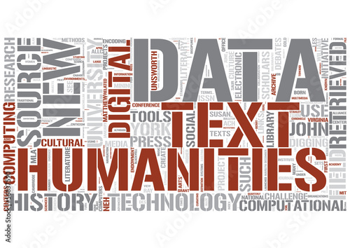The Digital Humanities Word Cloud Concept