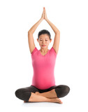 Maternity yoga meditation