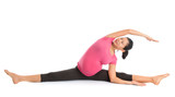 Pregnant woman yoga pose