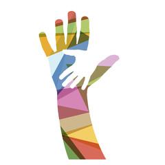 Vector creative hand