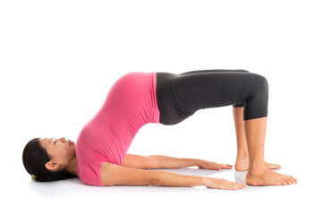 Pregnant woman yoga meditation