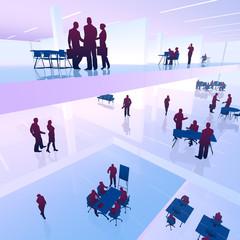 Geschäftsleute, Teamwork, Business / Silhouette