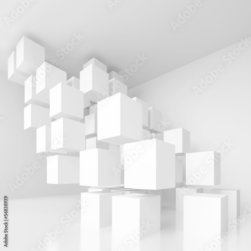 White Architecture Background