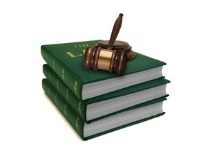 Stack of Law Books and Gavel