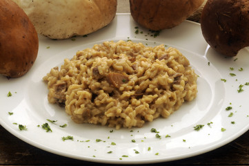 Risotto with Boletus edulis