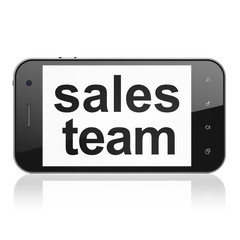 Marketing concept: Sales Team on smartphone