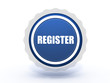 register star button on white background