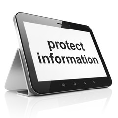 Safety concept: Protect Information on tablet pc computer