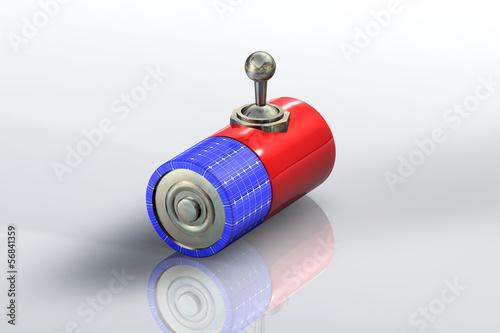 Batterie Solar Schalter