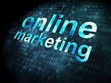 Advertising concept: Online Marketing on digital background