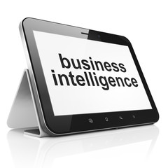 Finance concept: Business Intelligence on tablet pc computer