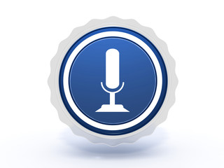 microphone star icon on white background
