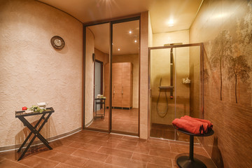 Modern spa center interior