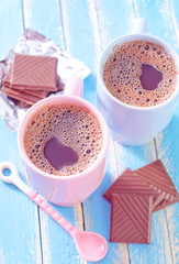 cocoa drink with chocolate