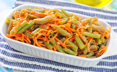 green beans with carrot