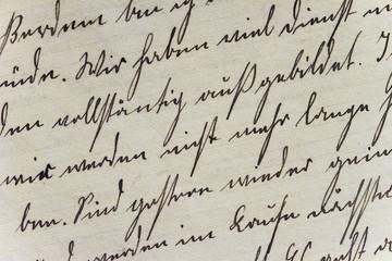 Historisches Schriftbild auf Büttenpapier