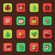Christmas flat icons in a square