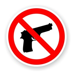sticker of no gun sign