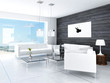 Modern Design Black and White Living Room Interior