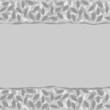 szare liście w warstwach podarty papier poziomy border