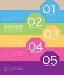 Colorful Octagon Banners Template Vector.EPS10