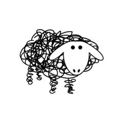 Vector Logo sheep and wool