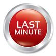 Last minute button. Vector sale red round sticker.