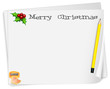 An empty card template with a yellow pencil