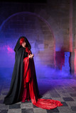 Gothic lady in medieval castle