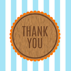 Thank you - vector greeting card