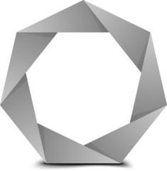 Heptagon folded figure