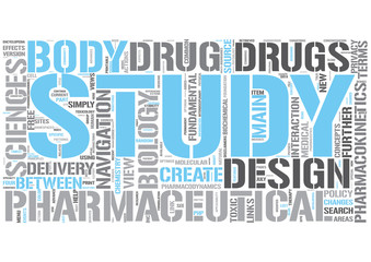 Pharmaceutical sciences Word Cloud Concept