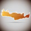 vintage sticker in form of Crete