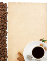 cup of coffee and parchment